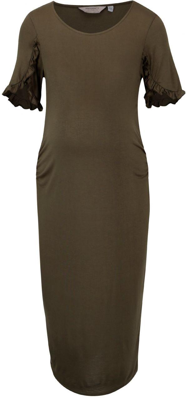 e4fa5e68c077 Kaki puzdrové tehotenské šaty Dorothy Perkins Maternity značky Dorothy  Perkins Maternity - Lovely.sk