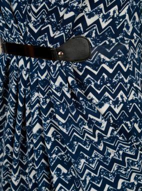 Bielo-modré vzorované šaty s kovovou aplikáciou Mela London značky ... acb33c69c2