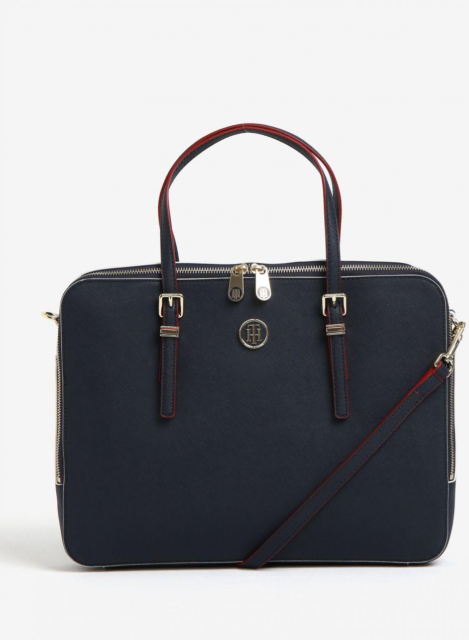 75c883313d Tmavomodrá dámska taška na notebook Tommy Hilfiger značky Tommy Hilfiger -  Lovely.sk