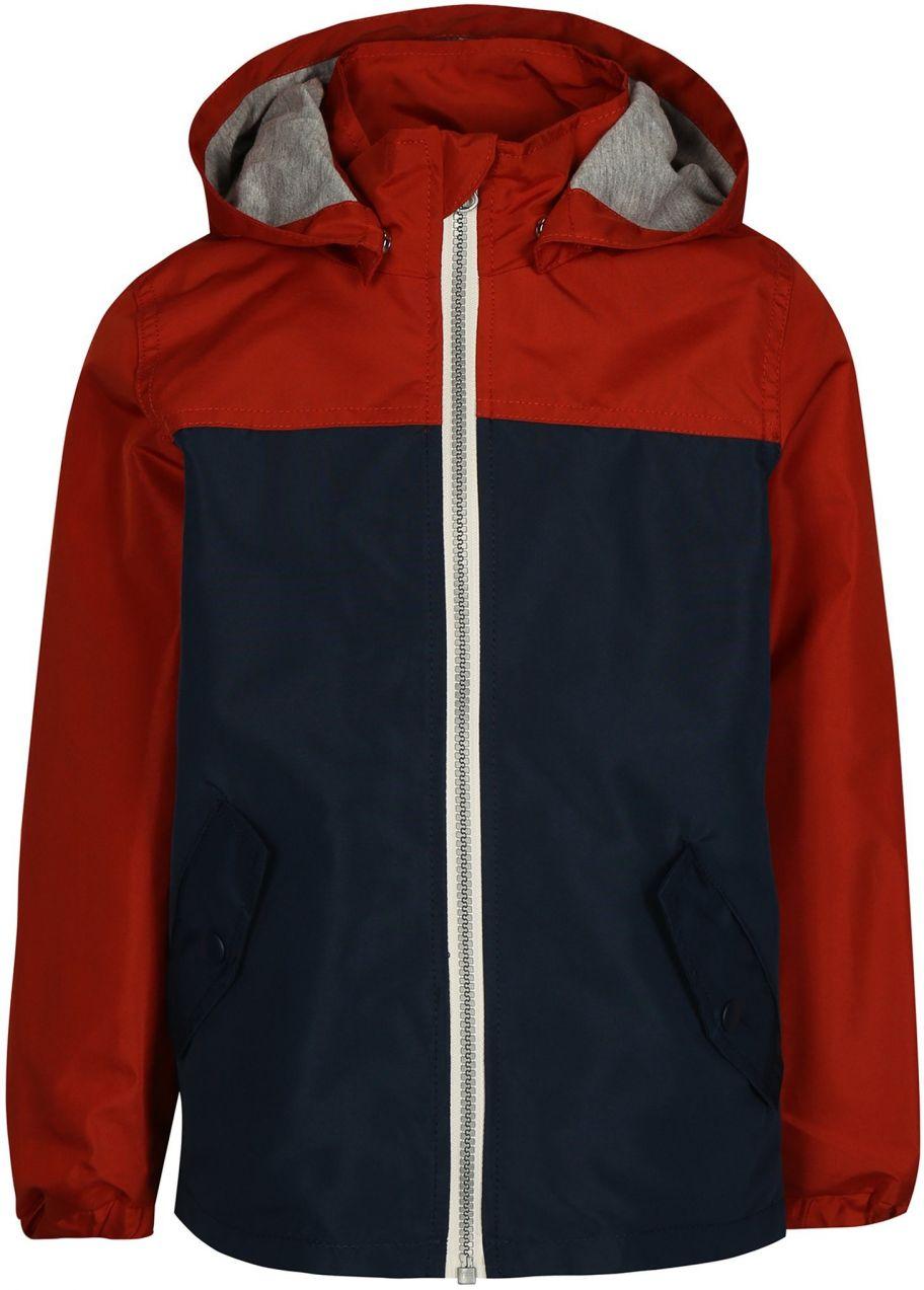 804f9262f1e1 Oranžovo-modrá chlapčenská bunda s kapucňou name it Mads značky name it -  Lovely.sk