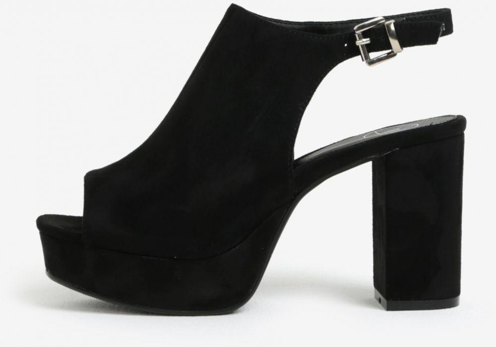 ebc67db985b9 Čierne sandále na platforme MISSGUIDED značky Missguided - Lovely.sk
