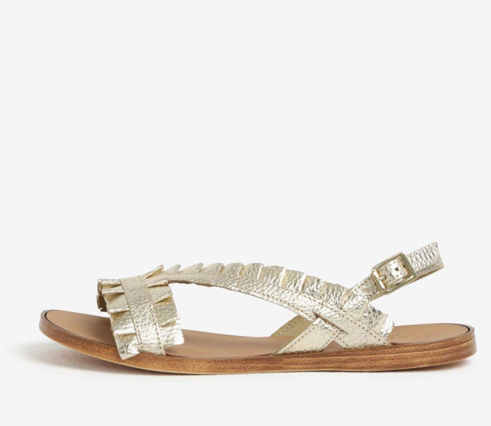 7e26c524011f Kožené sandále v zlatej farbe Pieces Mindy značky Pieces - Lovely.sk