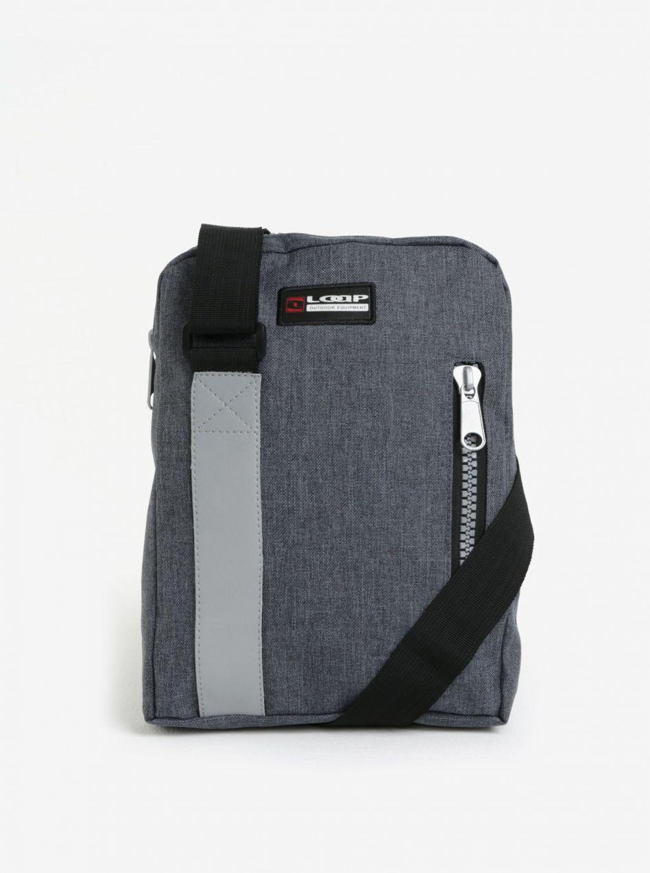 26555e2bec659 Sivá crossbody kabelka s reflexným prvkom LOAP Sting značky LOAP - Lovely.sk