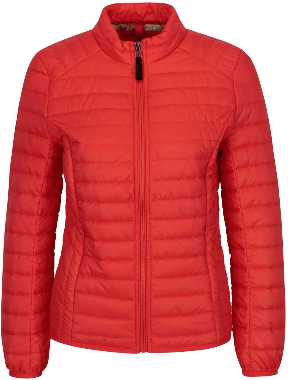 Červená dámska prešívaná bunda Geox značky Geox - Lovely.sk a8150578bd6