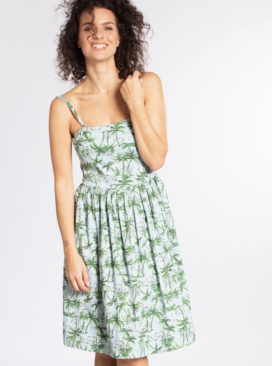421fe207481d Zeleno-modré vzorované šaty Blutsgeschwister značky Blutsgeschwister -  Lovely.sk