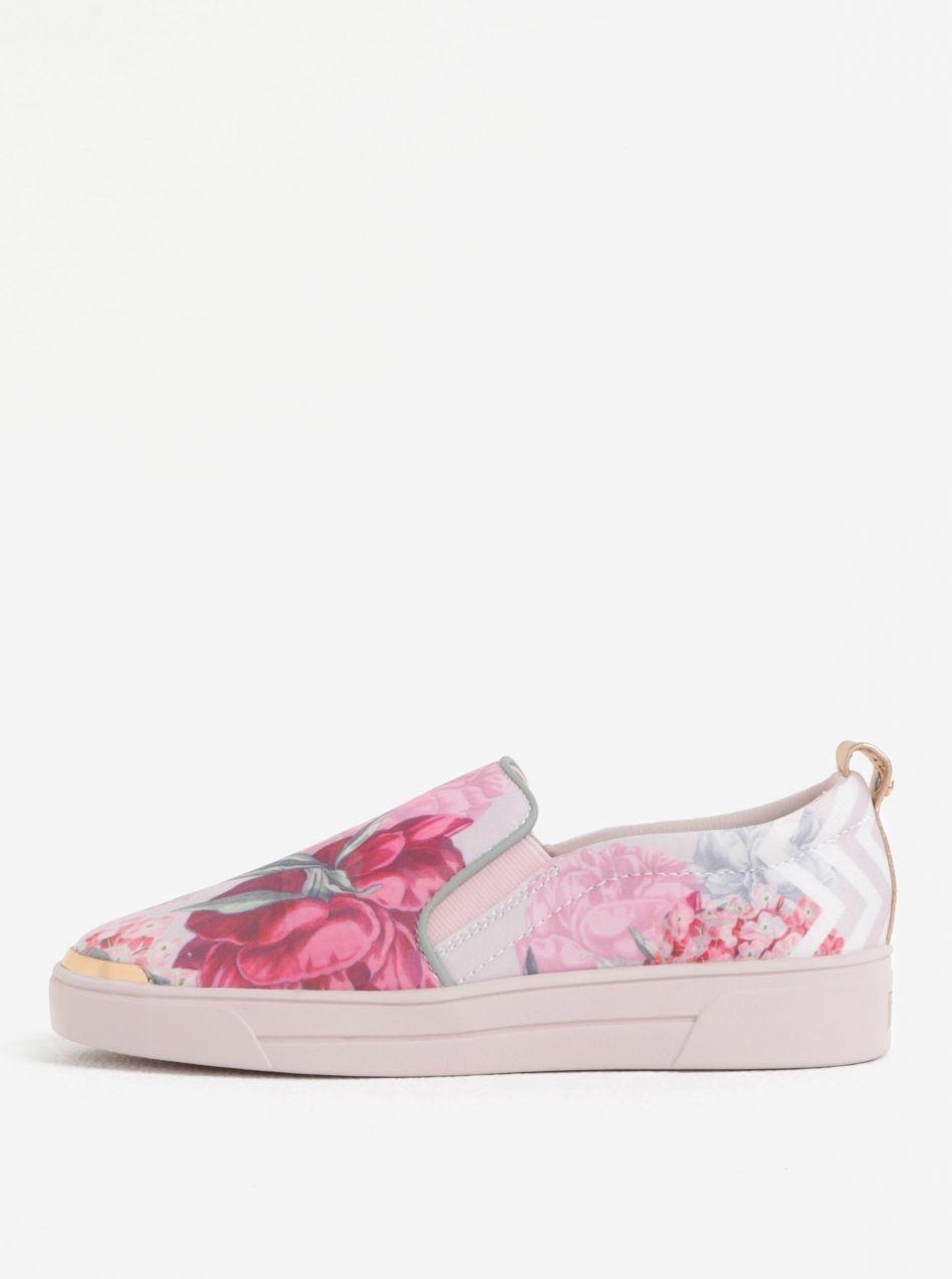 05849ad7b655 Ružové dámske kvetované slip on na platforme Ted Baker Tancey značky ...