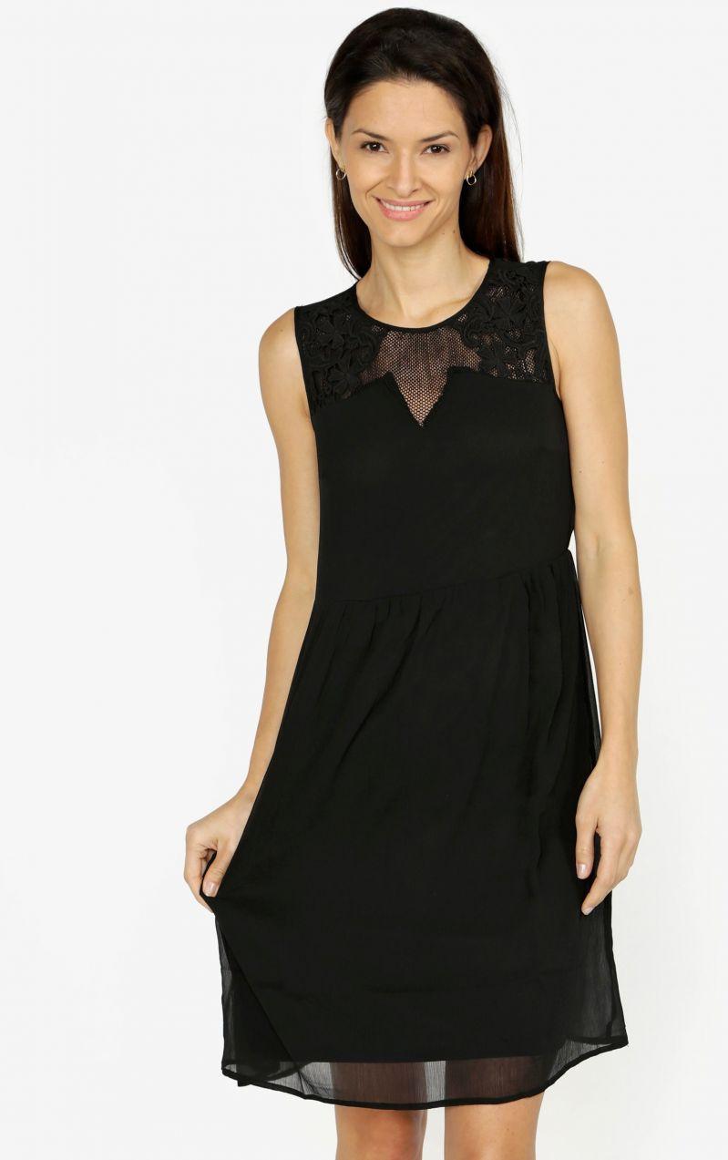 16fa79f57660 Čierne šaty s čipkou VERO MODA Dacey značky Vero Moda - Lovely.sk