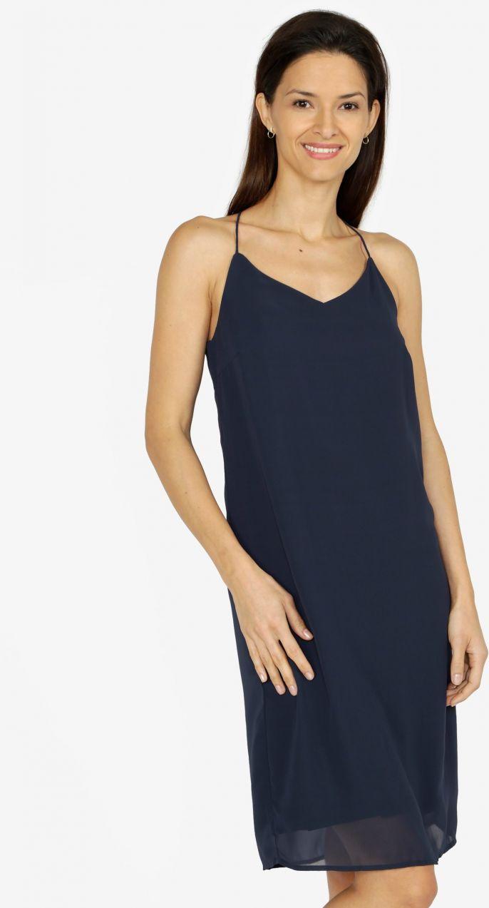 Tmavomodré šaty na ramienka VERO MODA Diana značky Vero Moda - Lovely.sk 081f572eb32