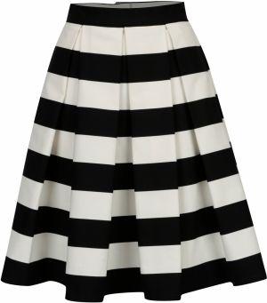 879002c2d950 Čierno-krémová pruhovaná kolová sukňa SAINT DOT Navy Black