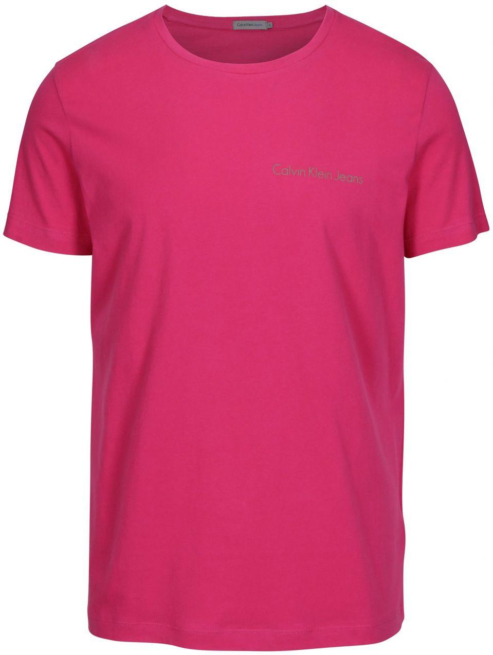 6259d4355063 Ružové pánske tričko s potlačou Calvin Klein Jeans Typoko značky Calvin  Klein Jeans - Lovely.sk