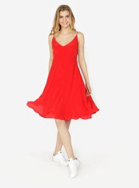 Červené šaty na ramienka Calvin Klein Jeans Deanna značky Calvin ... 73e6fcf85b0