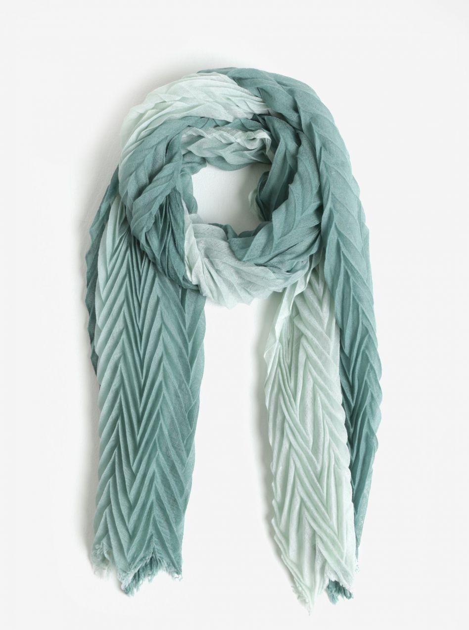 Zelený plisovaný šál Pieces Gyselle značky Pieces - Lovely.sk af4071e0bf