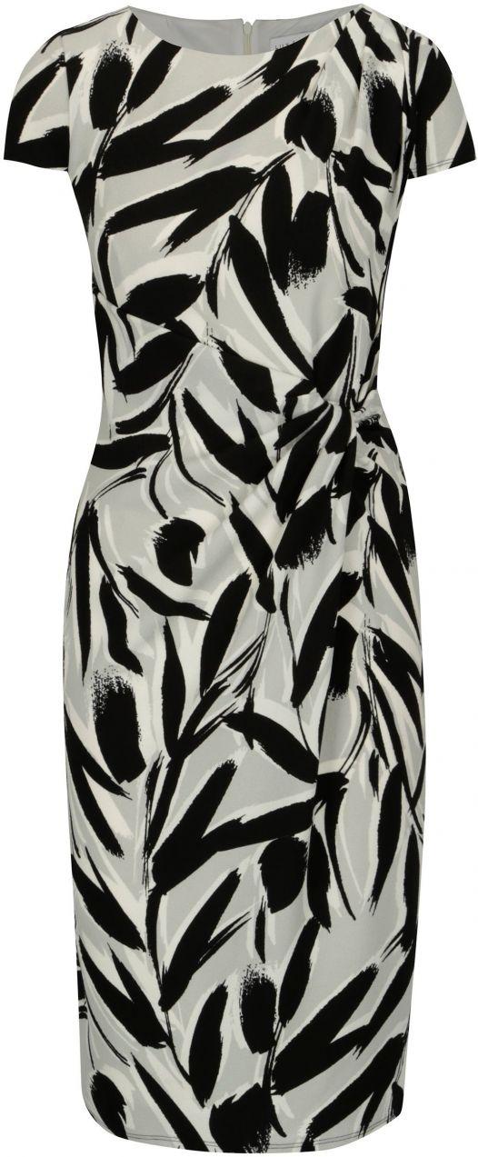 Čierno–biele vzorované šaty s riasením Dorothy Perkins značky Dorothy  Perkins - Lovely.sk 155b6777686