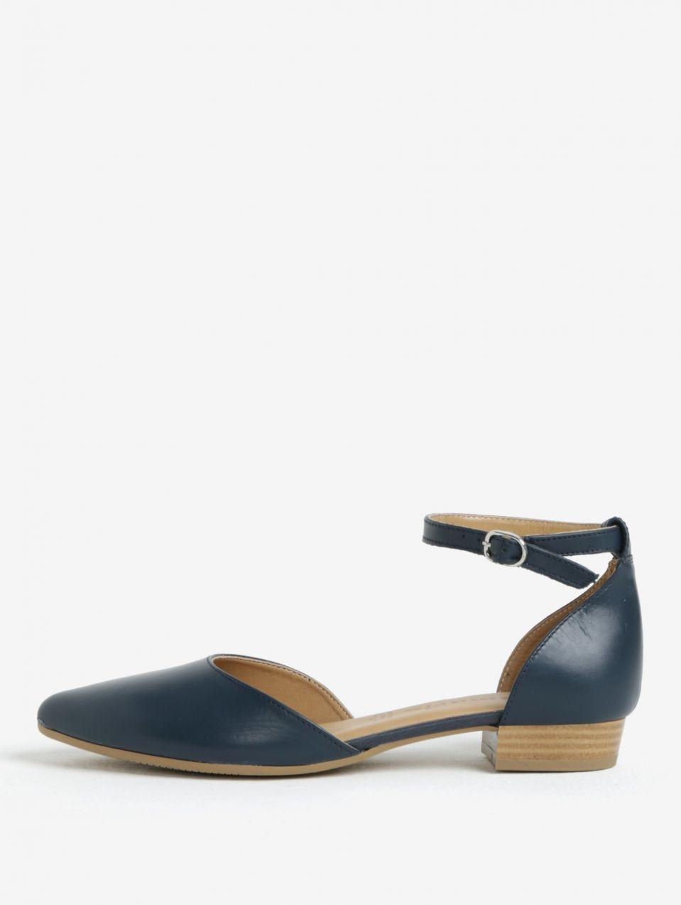 35ac250d25b7 Tmavomodré kožené sandále Tamaris značky Tamaris - Lovely.sk