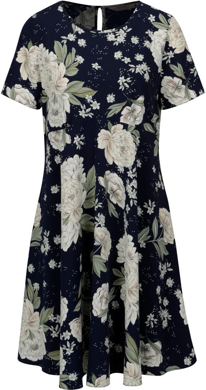 8bd9f4dd260d Modro-biele kvetované tehotenské šaty Dorothy Perkins Maternity ...