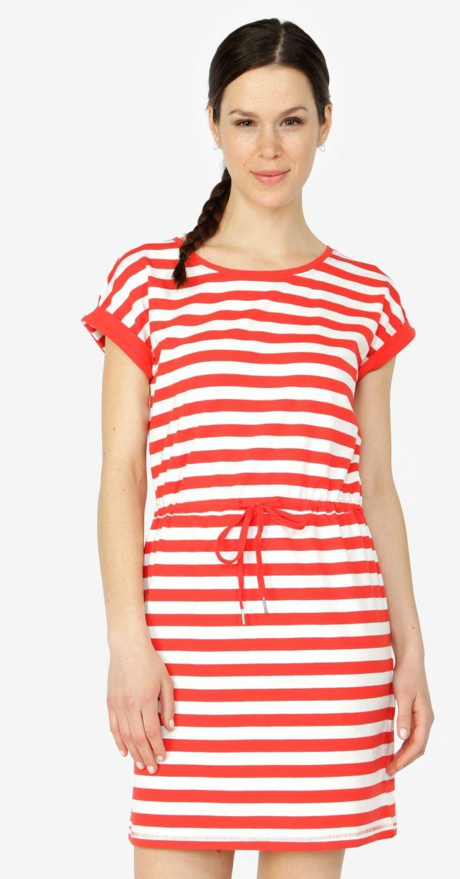 b5a040a27cf9 Červené pruhované šaty s krátkym rukávom ONLY Amber značky ONLY - Lovely.sk