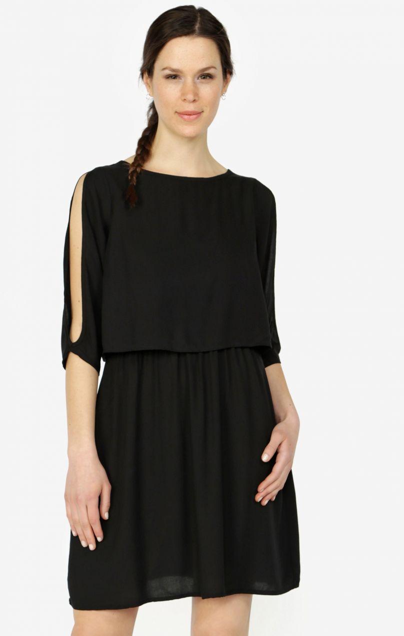 2f68e6ce11 Čierne šaty s 3 4 rukávom VERO MODA Boca značky Vero Moda - Lovely.sk