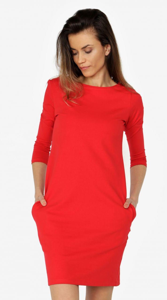 0b944c446ec0 Červené šaty s 3 4 rukávom ZOOT značky ZOOT - Lovely.sk