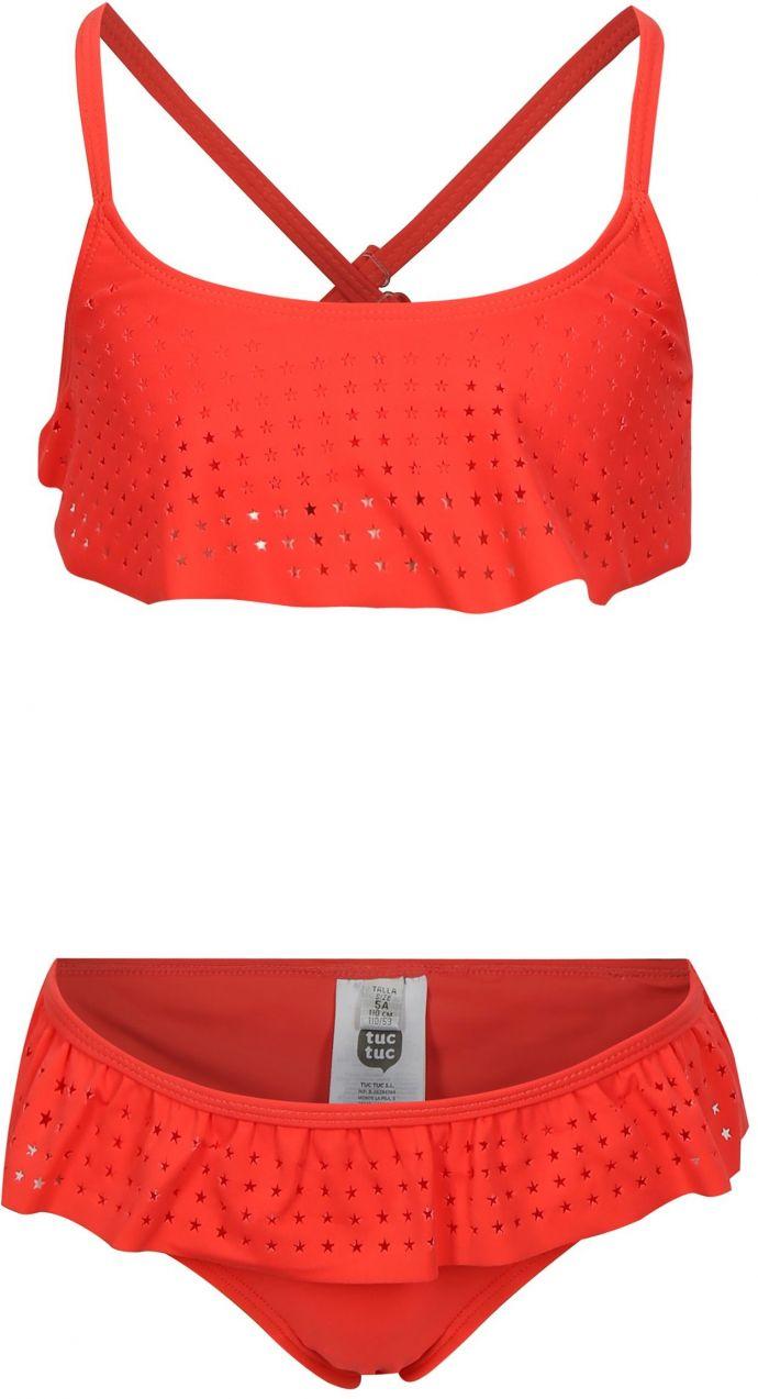 Červené dievčenské dvojdielne plavky s volánmi tuc tuc Stars značky tuc tuc  - Lovely.sk 8ddb7451ad