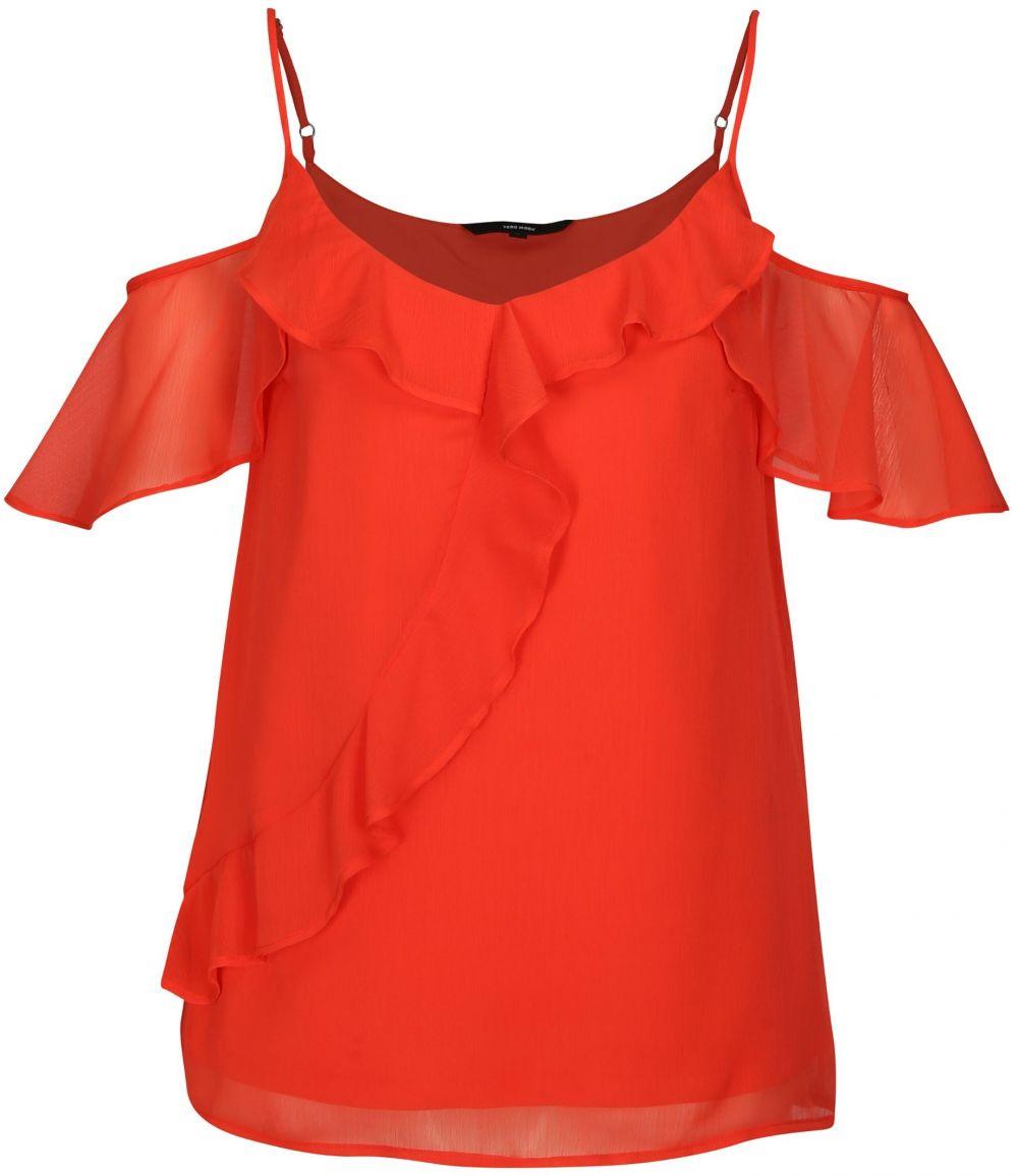 e015f47bb6f1 Červená blúzka s odhalenými ramenami VERO MODA Kenzie značky Vero ...