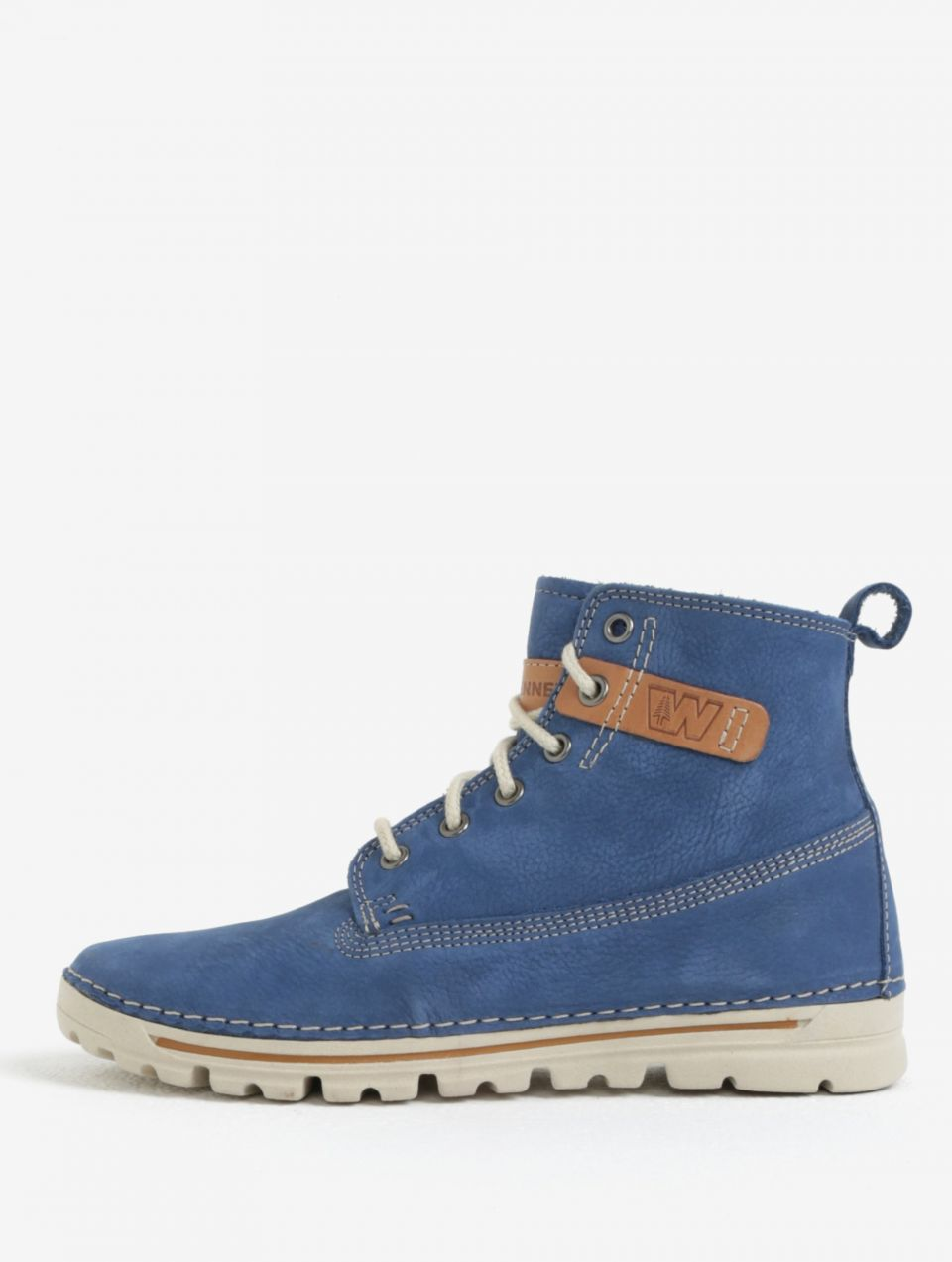 Modré dámske kožené členkové topánky Weinbrenner značky Weinbrenner ... d6936af53af