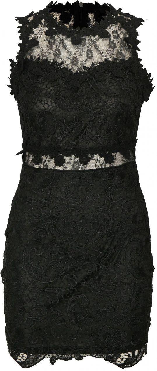 834a10568 Čierne čipkované šaty MISSGUIDED značky Missguided - Lovely.sk