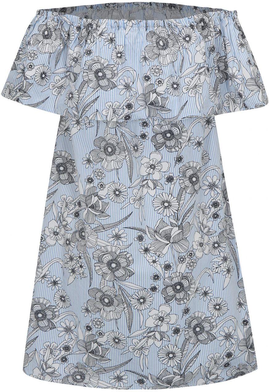 3def6ad920ae Bielo-modré kvetované šaty s odhalenými ramenami Dorothy Perkins značky Dorothy  Perkins - Lovely.sk