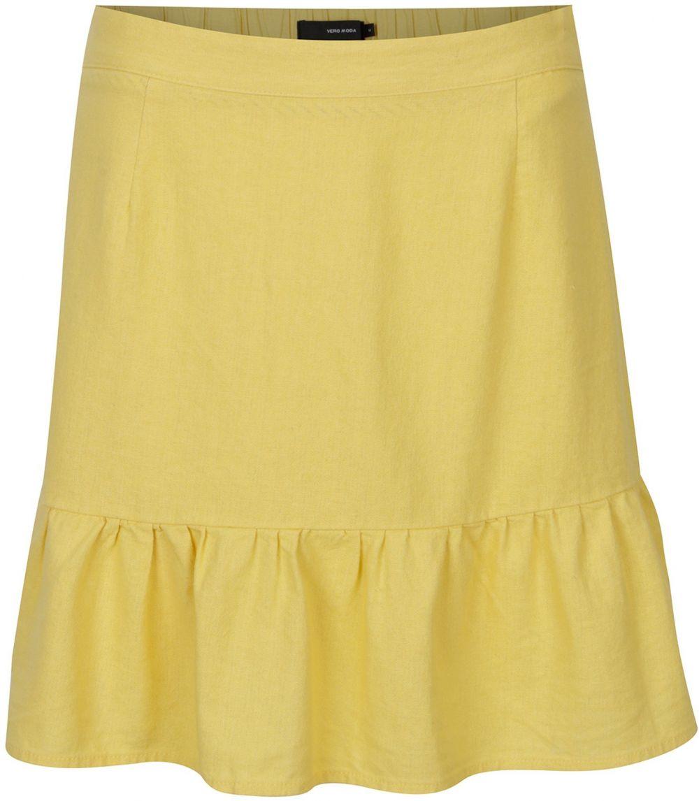 ae137dd9c42e Žltá ľanová sukňa VERO MODA Asta značky Vero Moda - Lovely.sk