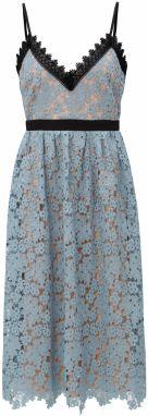 Telovo–modré čipkované šaty Little Mistress bdbf33d18be
