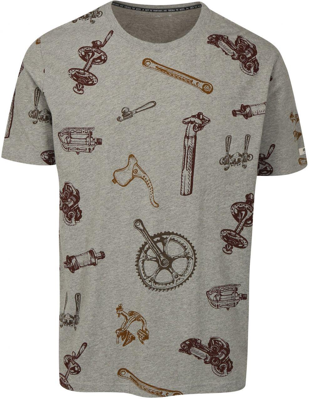 ba1465c6d Sivé pánske tričko s krátkym rukávom a potlačou Maloja značky Maloja -  Lovely.sk