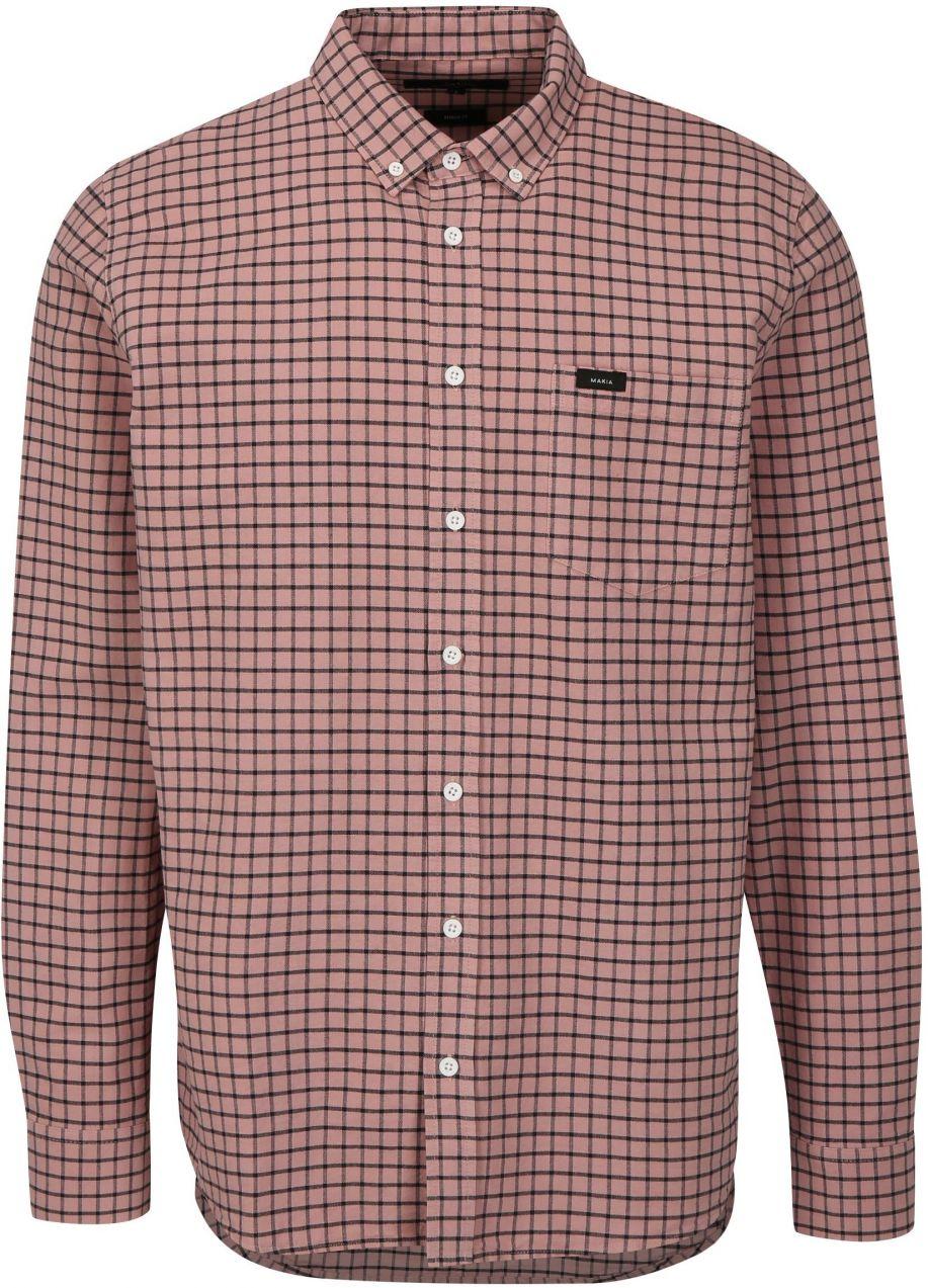 540dfb95dff8 Ružová kockovaná regular fit košeľa Makia Keeper značky Makia ...