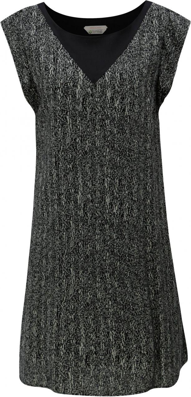 Sivo-čierne voľné vzorované šaty Skunkfunk Geretz značky Skunkfunk -  Lovely.sk a21bf6fd3c5