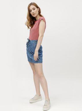 85e347d0a6d8 Červené dámske pruhované tričko Ragwear Ninon Organic značky Ragwear ...