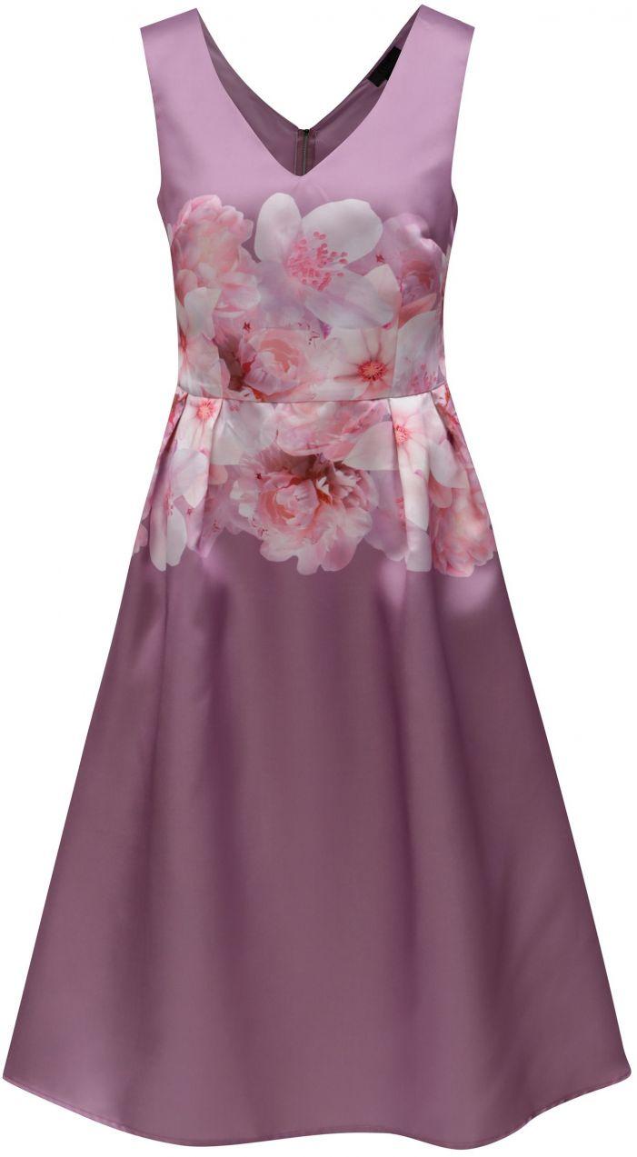 Fialové kvetované šaty Dorothy Perkins značky Dorothy Perkins ... bfe51eb193c
