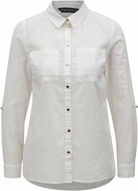 75fa7a94c1ed Sivo–biela pruhovaná košeľa s dlhým rukávom Dorothy Perkins značky ...