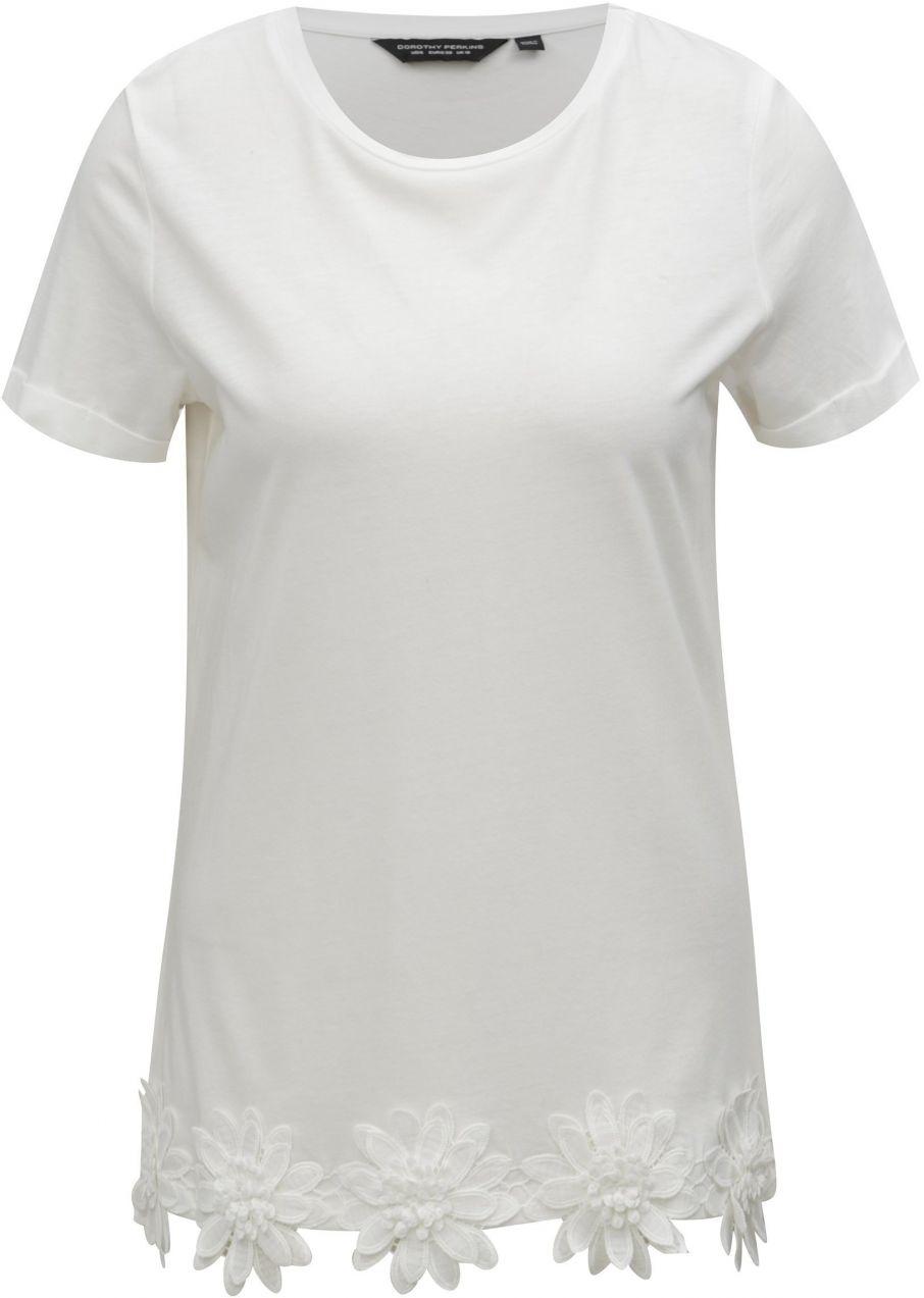 d81c312c8131 Biele tričko s nášivkami Dorothy Perkins značky Dorothy Perkins ...