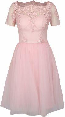 Ružové šaty so spadnutými ramenami Chi Chi London Dulce značky Chi ... b50eda7f10a