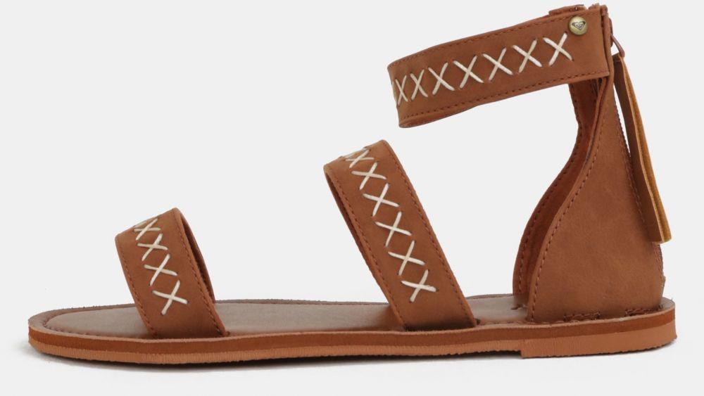 Hnedé dámske sandále s prešívaným vzorom Roxy Natalie značky Roxy ... ba334db4a1