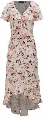 5f1ac704e05a Svetloružové kvetované maxišaty Dorothy Perkins