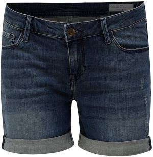 187789b55918 Modré dámske slim fit rifľové kraťasy s vysokým pásom Cross Jeans ...