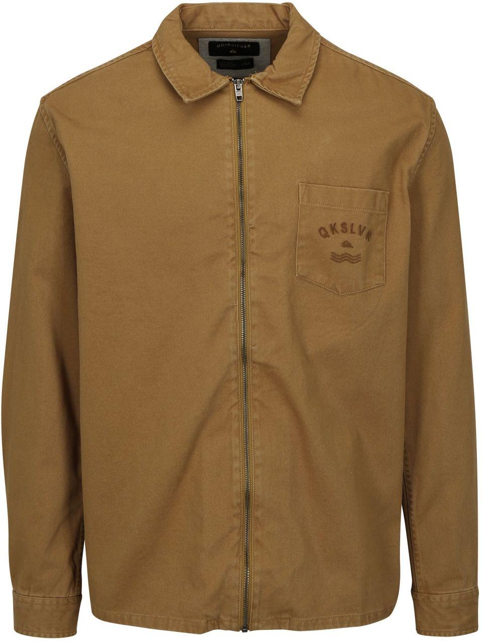 Hnedá pánska rifľová bunda Quiksilver značky Quiksilver - Lovely.sk 4ed8c9292c6