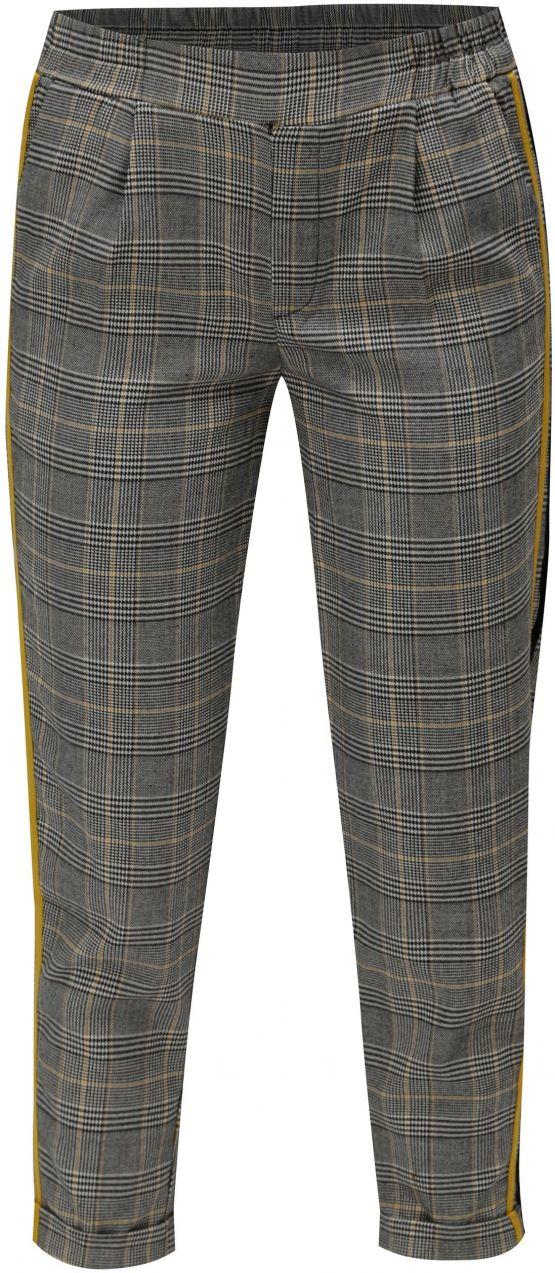 cd7aae94d Sivé kárované nohavice so žltým pruhom TALLY WEiJL značky TALLY WEiJL -  Lovely.sk