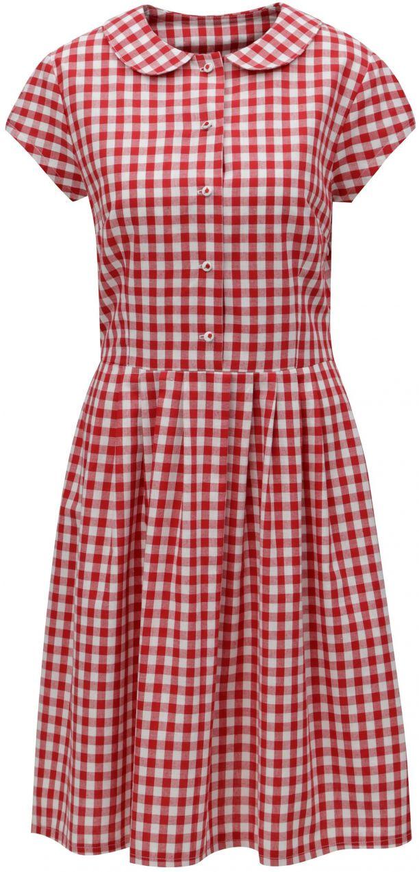 Červené kockované košeľové šaty Bohemian Tailors Eldora značky Bohemian  Tailors - Lovely.sk 84a4d3f0f34