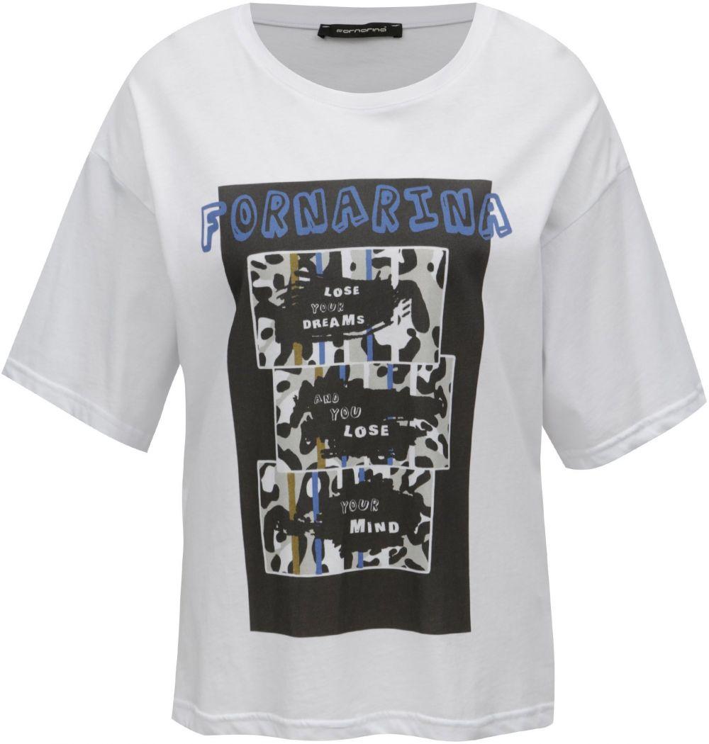 786320024f25 Biele tričko s potlačou Fornarina Amber 1 značky Fornarina - Lovely.sk