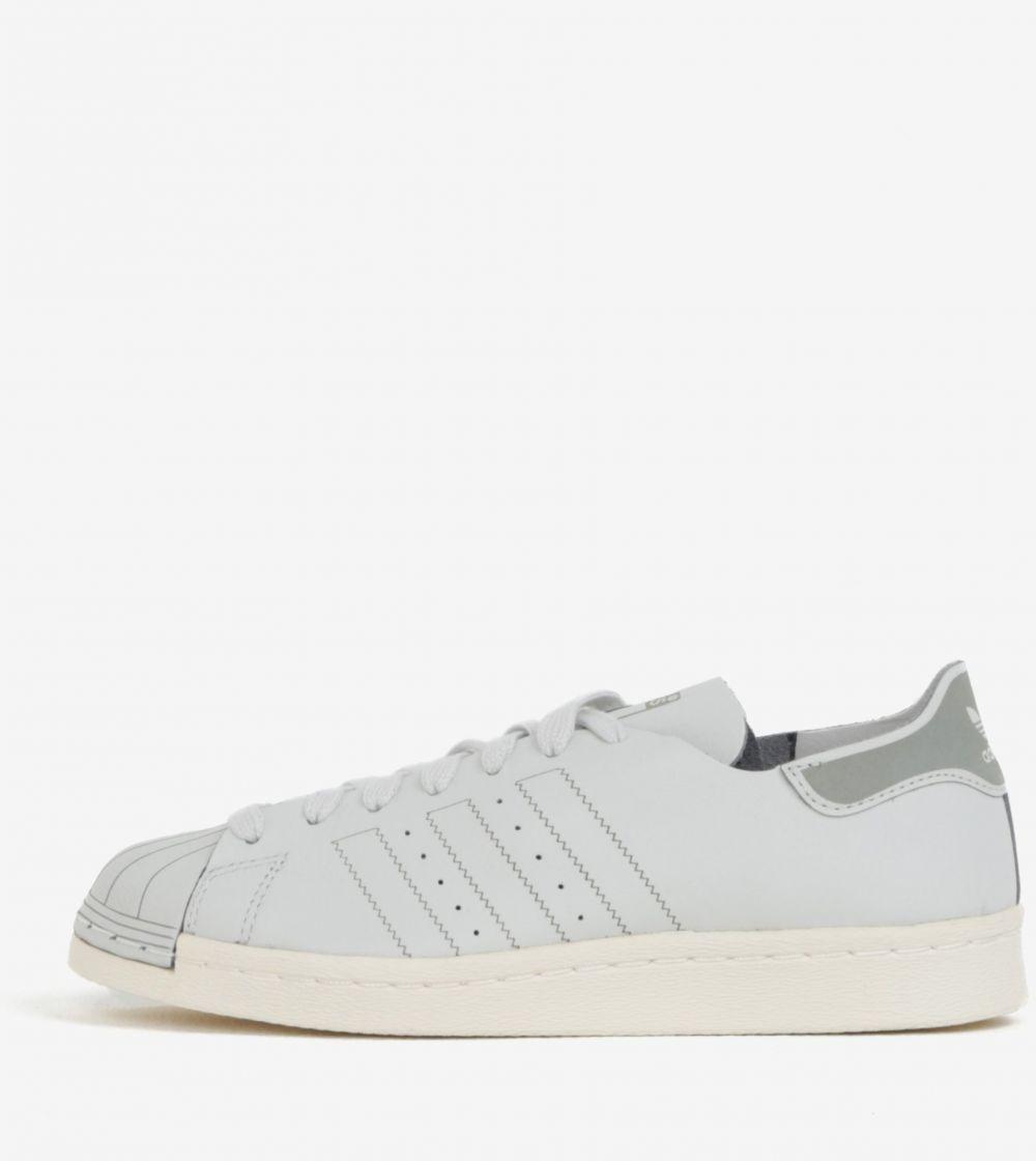 Svetlosivé dámske kožené tenisky adidas Originals Superstar značky ... acfdbf4c2ad