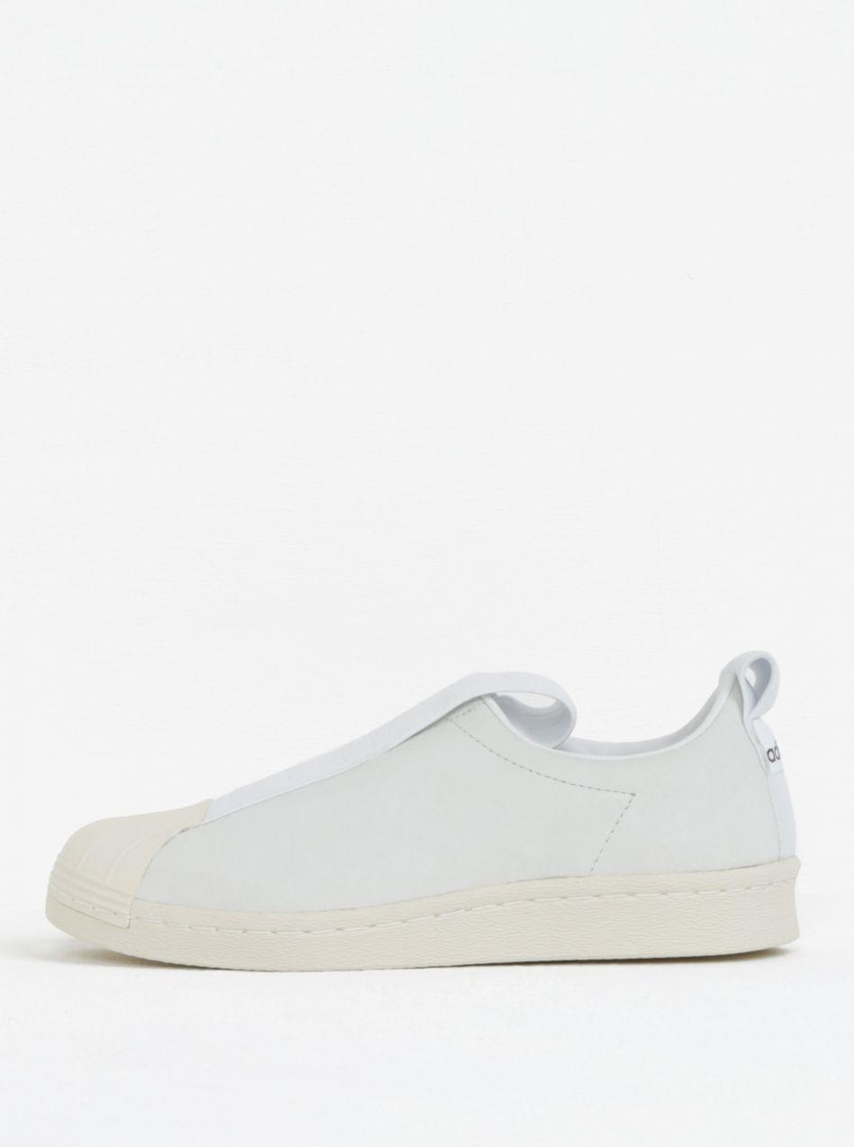 fcbd4246b51de Biele dámske kožené slip on adidas Originals Tubular Superstar ...