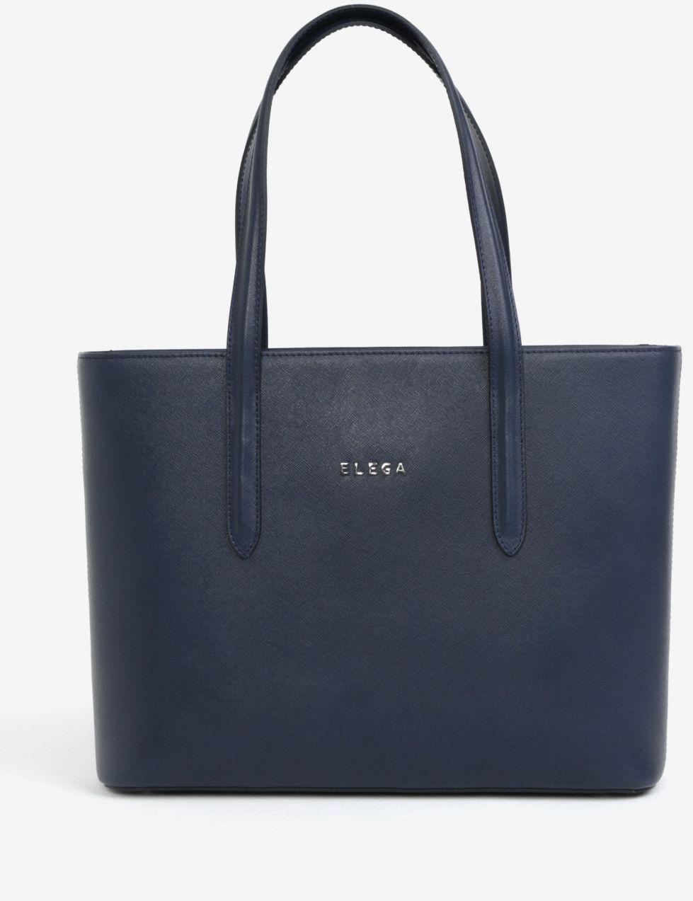 f7e3f190b6 Tmavomodrá kožená kabelka cez rameno ELEGA Simone značky Elega - Lovely.sk