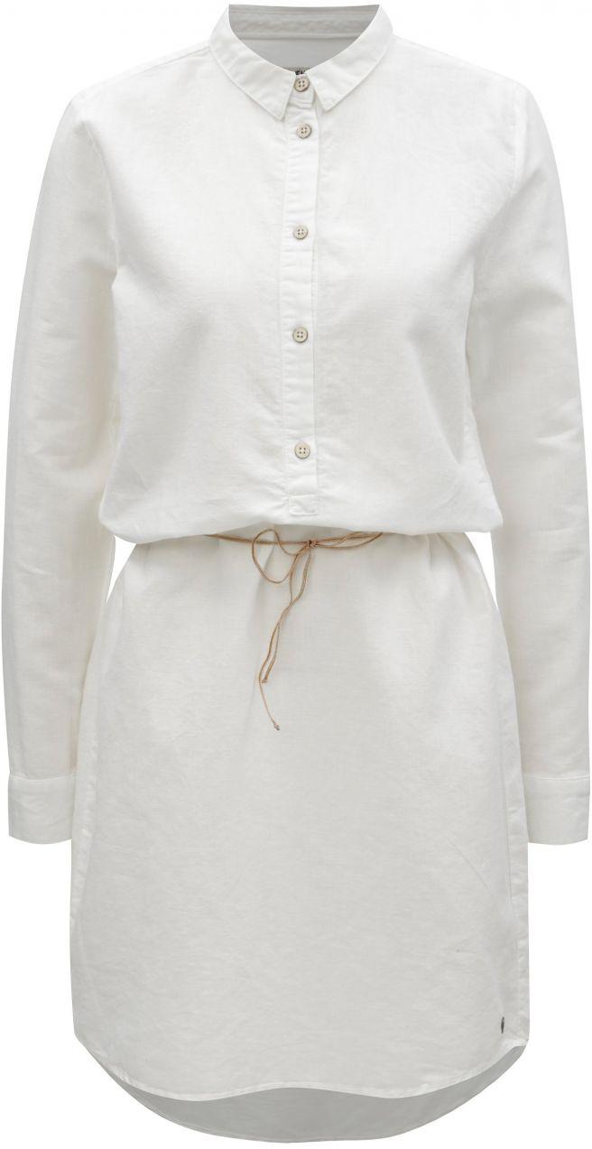 Biele košeľové ľanové šaty s dlhým rukávom Garcia Jeans značky Garcia Jeans  - Lovely.sk 2a2bc4a71d1
