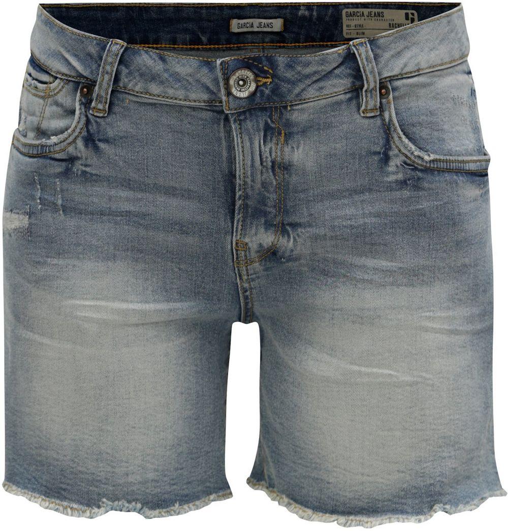 14f951281d43 Modré dámske rifľové slim fit kraťasy s nízkym pásom Garcia Jeans Rachelle  značky Garcia Jeans - Lovely.sk