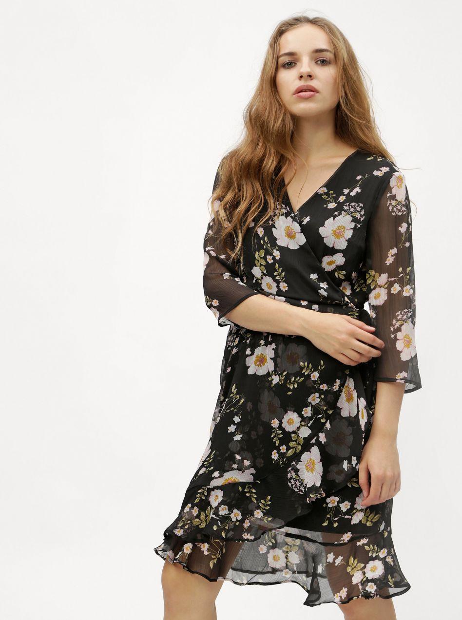 e88596518710 Čierne kvetované šaty VERO MODA Kay značky Vero Moda - Lovely.sk